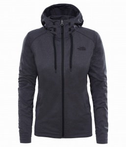 Bluza damska The North Face TECH MEZZALUNA HD dark grey heather/tnf black XS