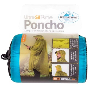 Poncho Sea To Summit Ultra-Sil Nano 15D blue