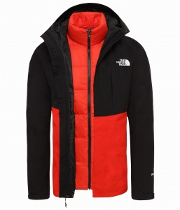Kurtka Męska The North Face Mountain Light Triclimate tnf black/fiery red