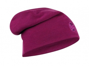 Czapka Buff WOOL HAT HEAVY LOOSE solid raspberry purple