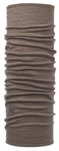 Chusta Buff  MERINO WOOL LIGHT walnut brown stripes