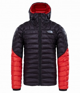 Kurtka The North Face Summit L3 Down Hoodie tnf black/fiery red