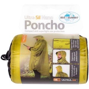 Poncho Sea To Summit Ultra-Sil Nano 15D lime