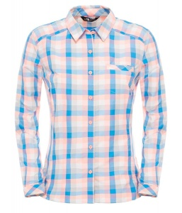 Koszula Damska The North Face Zion Shirt neon peach plaid XS
