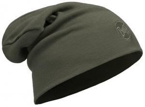 Czapka Buff WOOL HAT HEAVY LOOSE solid forest night