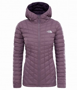 Kurtka Damska The North Face Thermoball Hoodie black plum