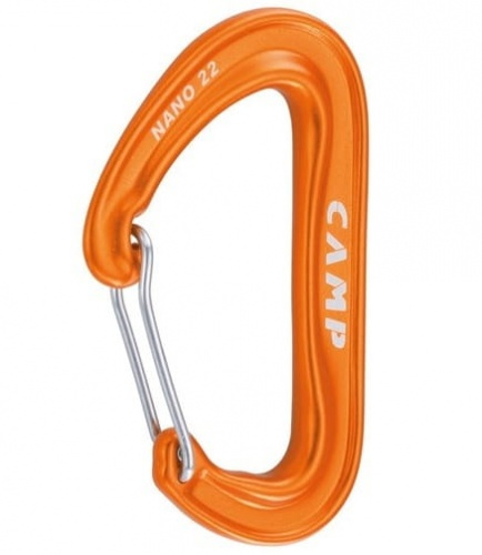 Karabinek Camp Nano 22 Wire orange