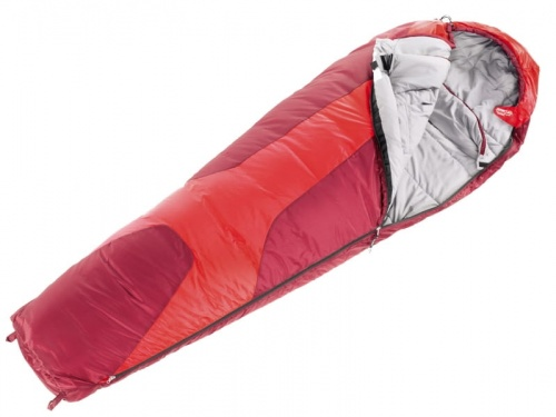 Śpiwór Damski Deuter Orbit 0 Regular fire-cranberry lewy SL