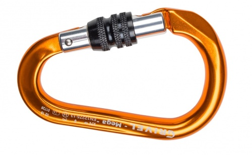 Karabinek Grivel K6N Mega screw lock orange