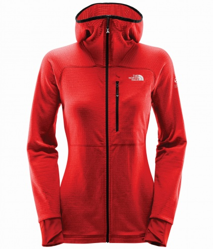 Polar damski The North Face Summit L2 Proprius Grid Fleece HD fiery red