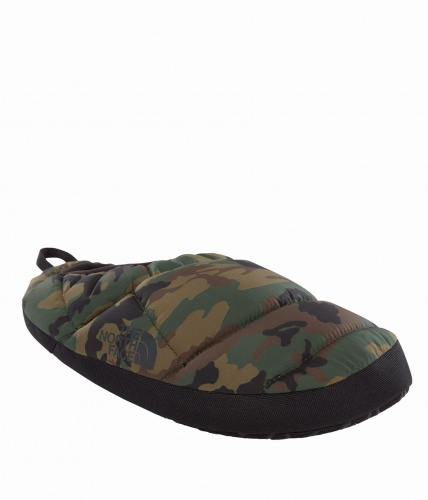 Kapcie Męskie The North Face NSE TENT MULE SLIPPERS III black forest wood