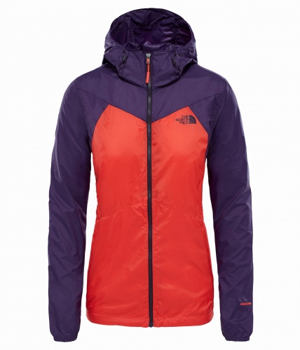 Kurtka Damska The North Face Flyweight Hoodie fire brick red