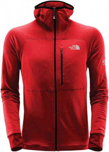 Polar męski The North Face Summit L2 Proprius Grid Fleece HD fiery red