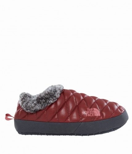 Kapcie Damskie The North Face THERMOBALL TENT MULE IV Faux Fur shiny barolo/iron grey S