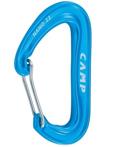 Karabinek Camp Nano 22 Wire light blue