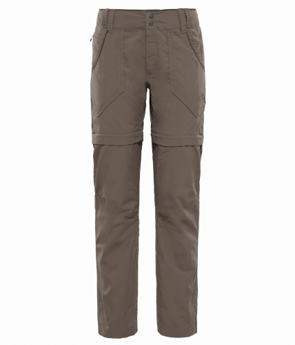 Spodnie Damskie The North Face Horizon Convertible Plus weimaraner brown REG